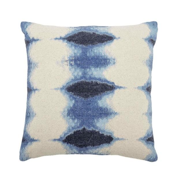 Bloomingville Kissen aus Baumwolle (Blau/Weiß)