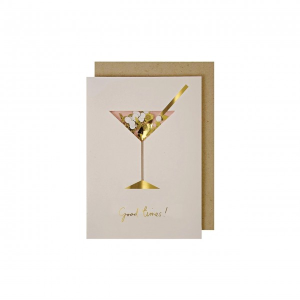 "Konfettikarte ""Cocktail"" von Meri Meri"