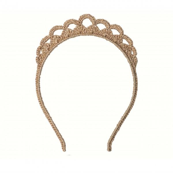 Goldener Tiara-Haarreif für Ihre kleinen Prinzessinen