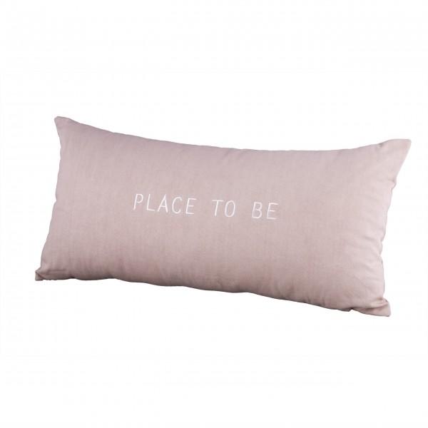 """Dekokissen """"Place to be"""" - 30x60cm (Rosa) von räder Design"""