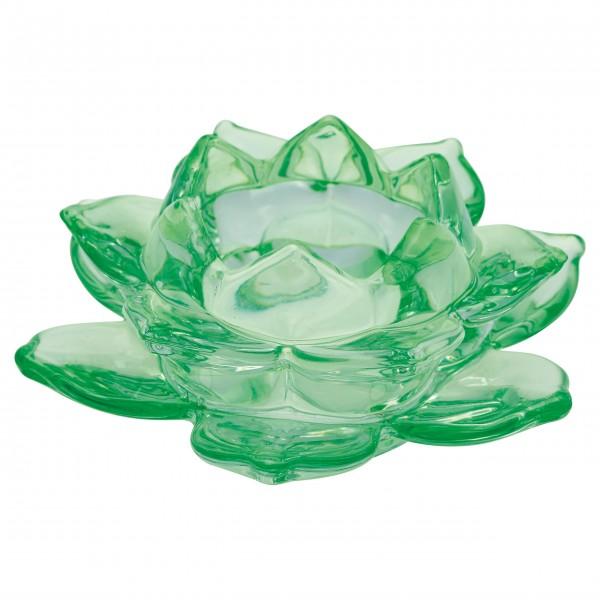 """GreenGate Kerzenhalter """"Flower Medium"""" (Green)"""