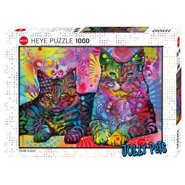 """Puzzle """"Devoted 2 Cats"""" von HEYE"""