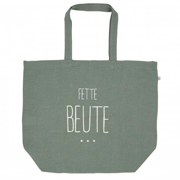 """Einkaufstasche """"Fette Beute"""" grün von räder Design"""