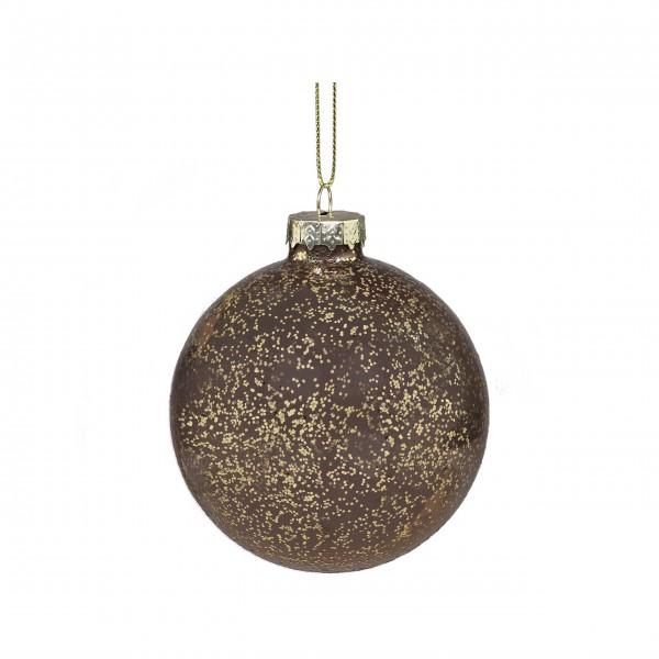 Chic Antique Weihnachtskugel mit goldenem Muster - (Mokka)