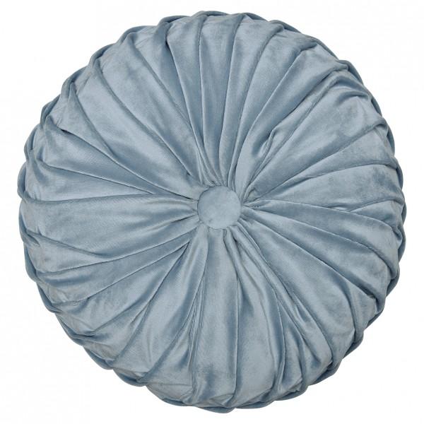 GreenGate - Rundes Samtkissen (Pale Blue)