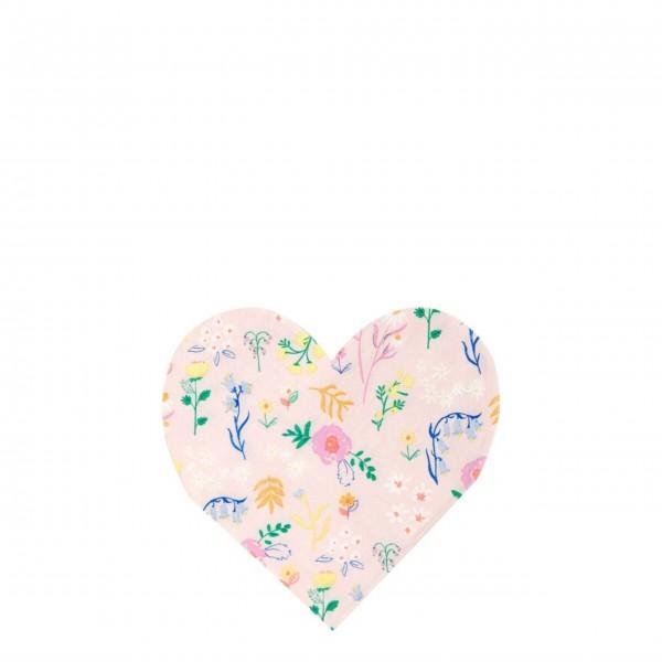 """Kleine Pappteller """"Wildflower Heart"""" von Meri Meri"""