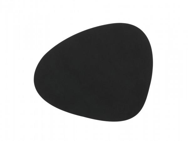 """LindDNA Tischset """"Curve"""" Nupo L (Schwarz)"""