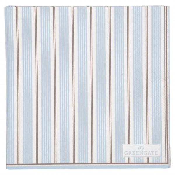 """GreenGate Kleine Papierserviette """"Tova"""" - 20 Stk. (Pale Blue)"""