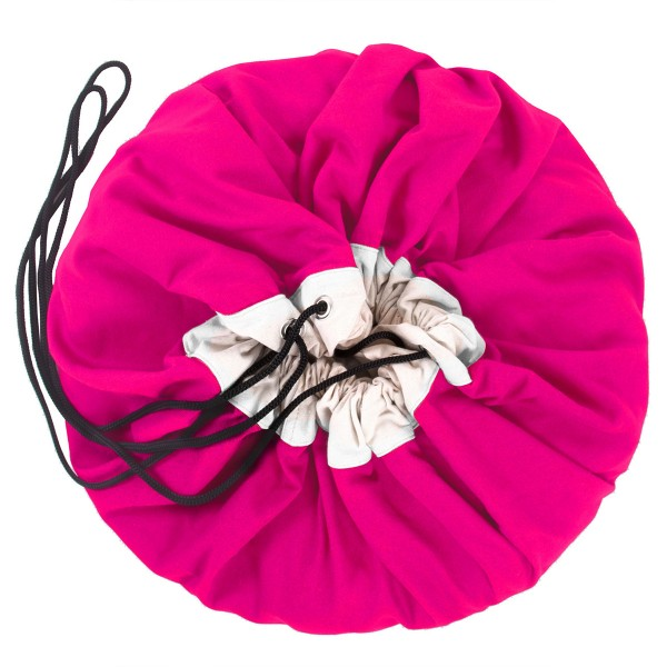 2-in-1 Aufräumsack in strahlendem Fuchsia