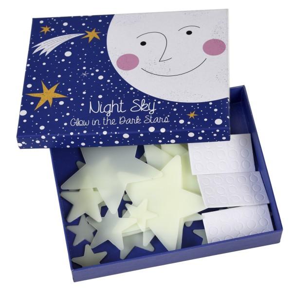"""Box mit Leuchtsternen """"Glow in the Dark"""" von Rex LONDON - 30-tlg."""