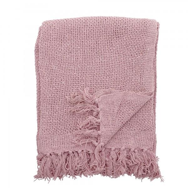 Bloomingville Decke aus recycelter Baumwolle (Rose)