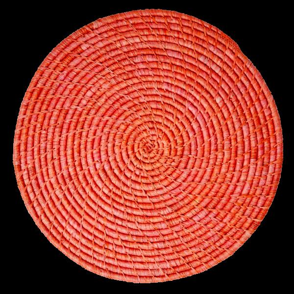 """rice - Rundes Platzset """"Raffia"""" (Red)"""