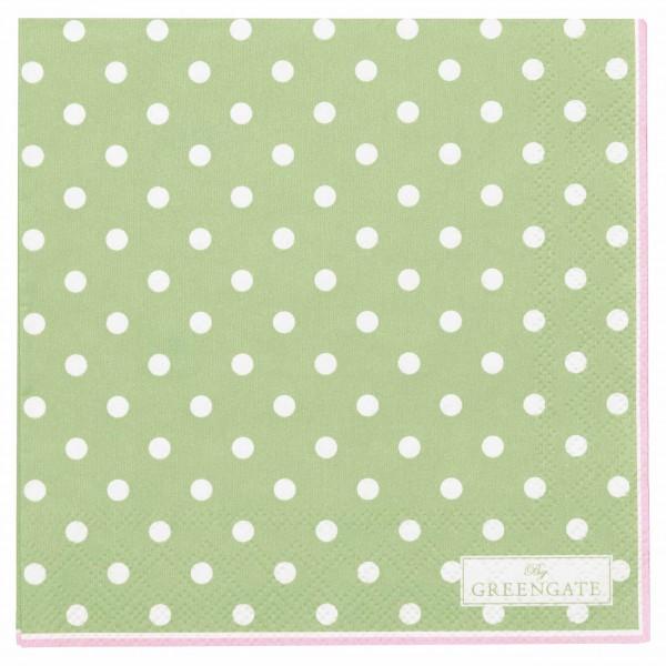 Schöne Papierservietten mit weißen Punkten - von GreenGate