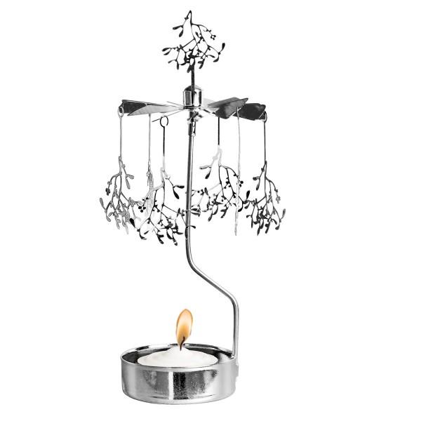 Mistelzweig-Wetttanzen: mit dem Teelichtkarussell in Silber