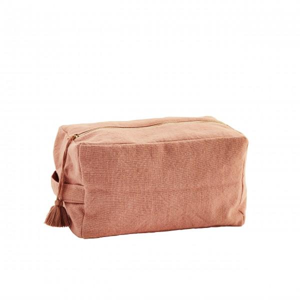 Madam Stoltz Kulturbeutel aus Baumwolle - L (Koralle)