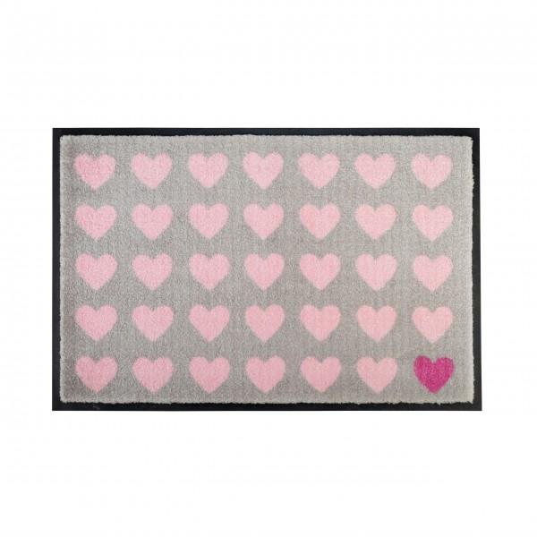 Fußmatte Herzen (Rosa) von Gift Company