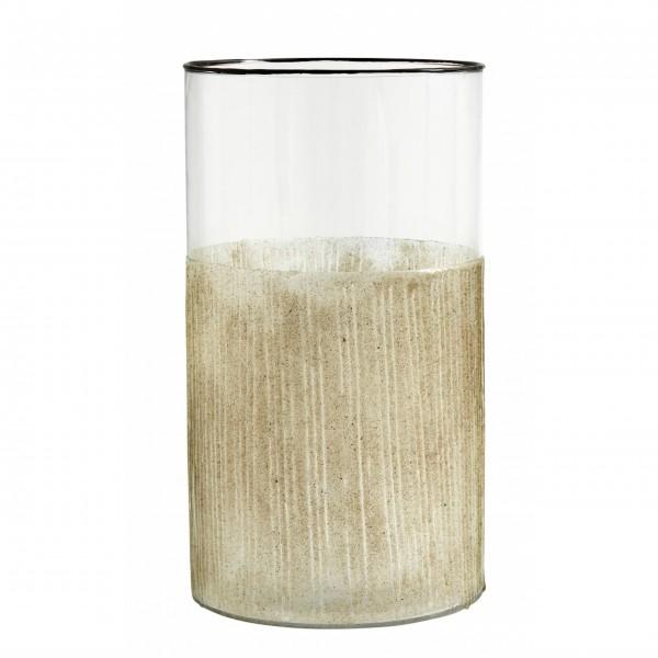 Kann als Vase und als Windlicht verwendet werden!