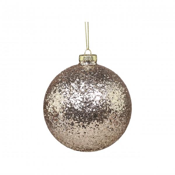 Chic Antique Weihnachtskugel mit Glitzer - (Silber)