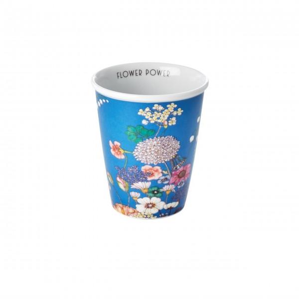 """Rice Porzellan Becher """"Flower Collage - Flower Power"""" - 225 ml (Blau)"""