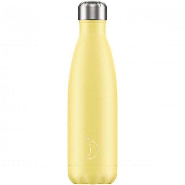 "CHILLY'S Bottle Isolierflasche ""Pastell Gelb"" - 500 ml (Gelb)"