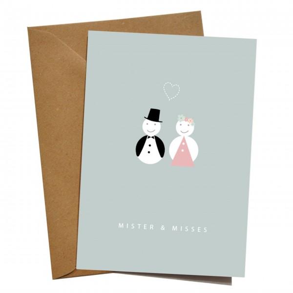 mimie&joe Mister & Misses - Grußkarte