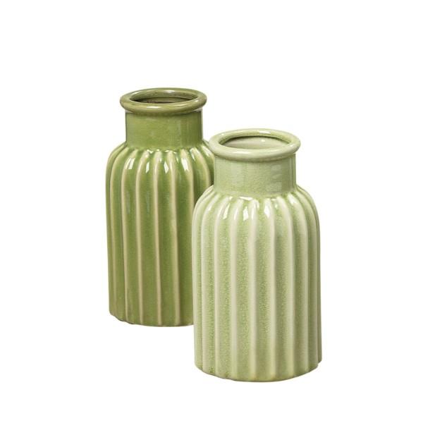 Satte Farben, tolles Design - Vase im Set