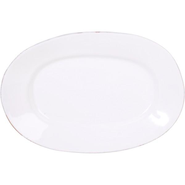 Weiße Servierplatte aus hochwertiger Toskana-Keramik