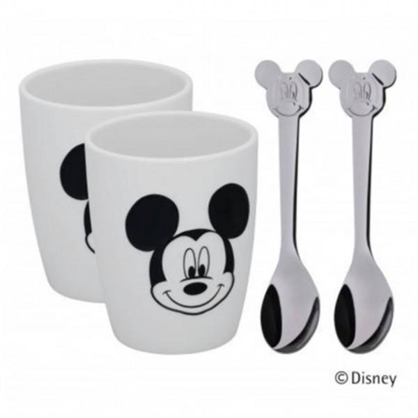 """WMF Tassen-Set """"Mickey Mouse"""" (10,5 cm hoch) - 4tlg"""