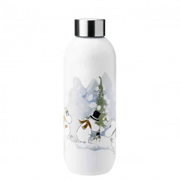 """Stelton Trinkflasche """"Keep Cool - Moominl"""" - 0,75L - (Weiß)"""