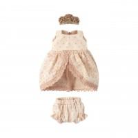 "Maileg Prinzessinnen Kleid ""Micro & Mouse"" (Rosa/Creme)"