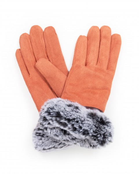 "Powder Handschuhe ""Penelope Faux Suede"" (Coral)"