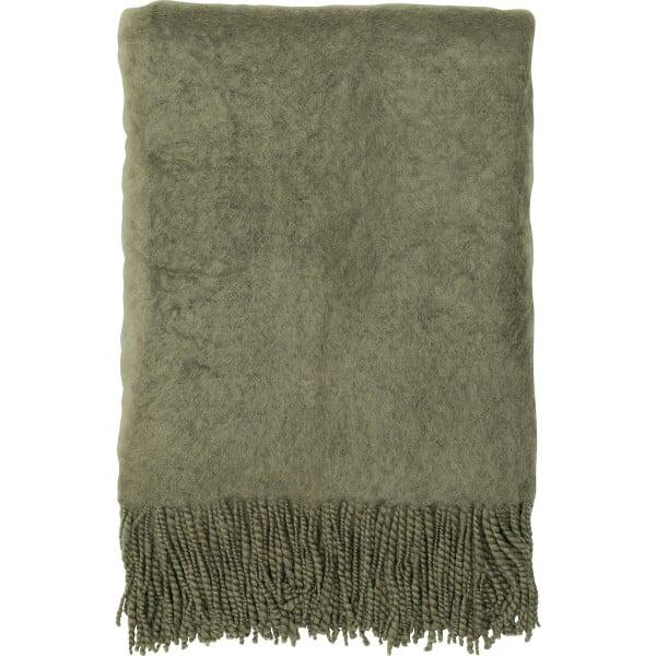 GreenGate Decke aus Mohairwolle - 120x160cm (Dusty Green)