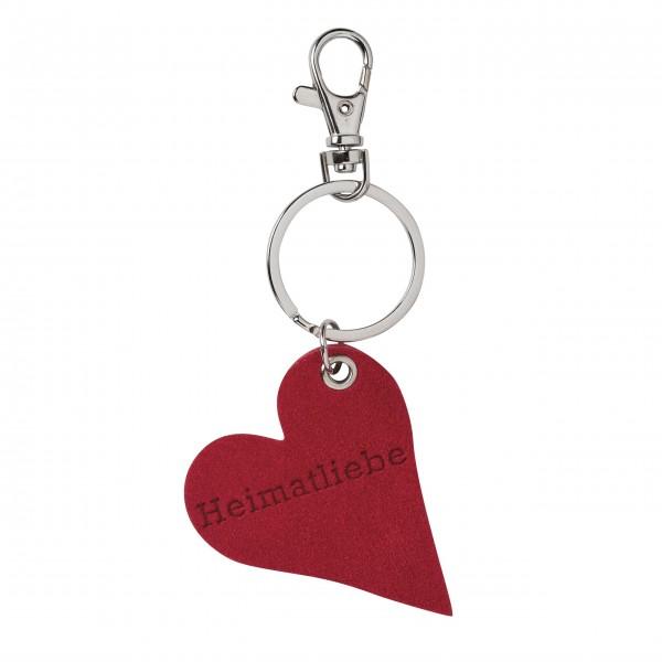 """Schlüsselanhänger """"Herz"""" (Heimatliebe) rot von räder Design"""