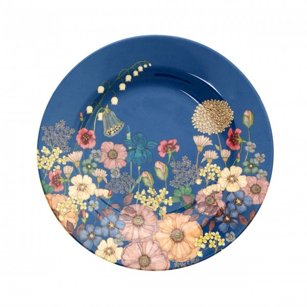 """Rice Melamin Teller """"Flower Collage""""-1"""