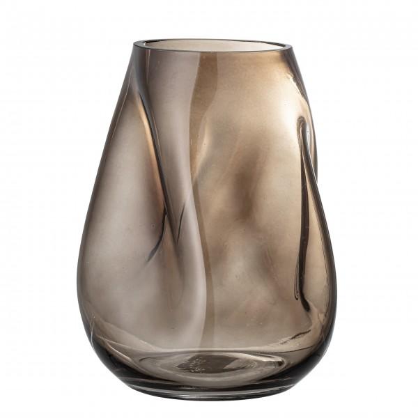 """Bloomingville Glas-Vase """"Ingolf"""" (Braun)"""