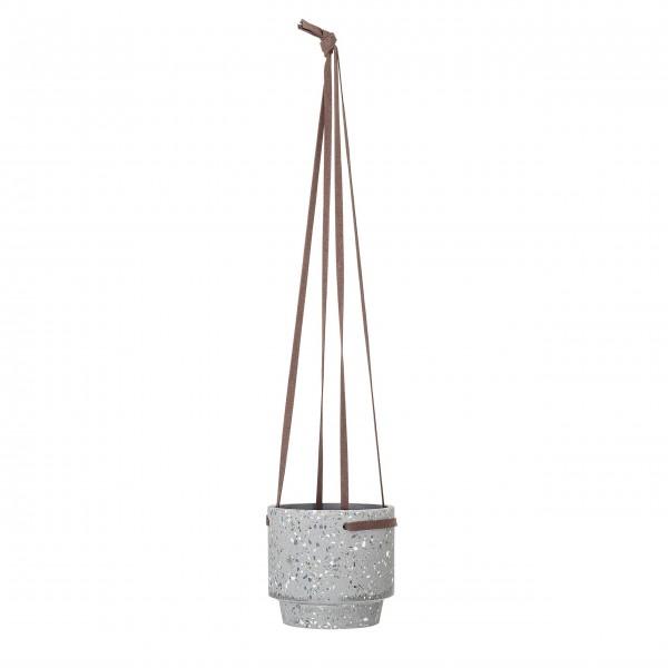 Bloomingville Deko-Hänge-Blumentopf (Grau) aus Beton