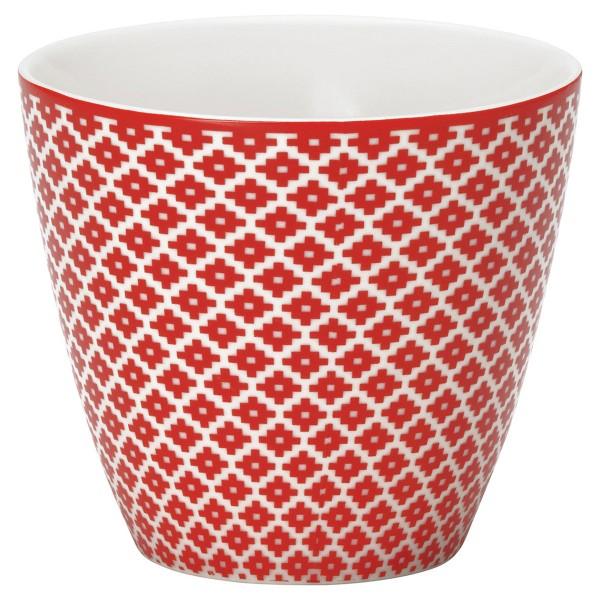 Rotfarbener Latte Cup von GreenGate