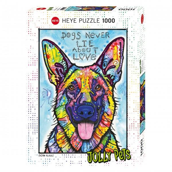 """Puzzle """"Dogs Never Lie"""" von HEYE"""