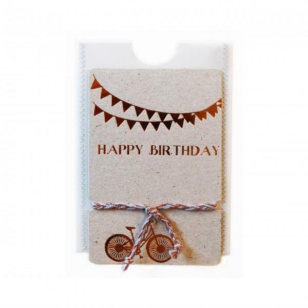 """Freundschaftsband """"Happy Birthday"""" von Good old friends."""