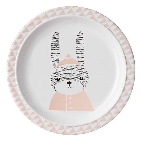 Niedlicher kleiner Hase: Melamin Teller von Bloomingville