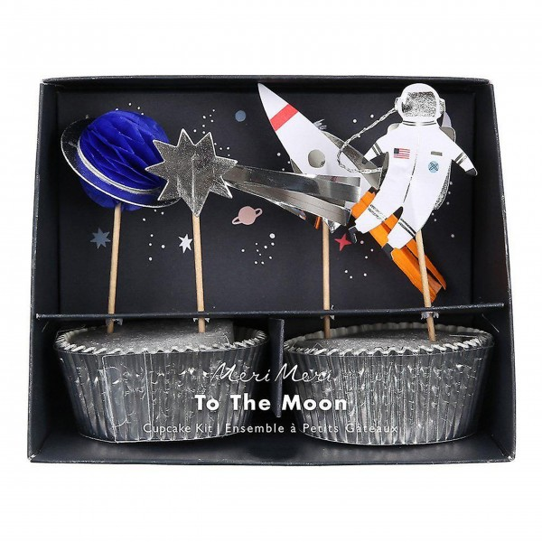 "Muffinset ""To the Moon"" von Meri Meri"