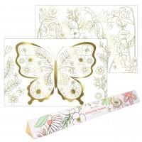 """Malbogen """"Schmetterlinge"""" - XL von Meri Meri - 2er-Pack"""