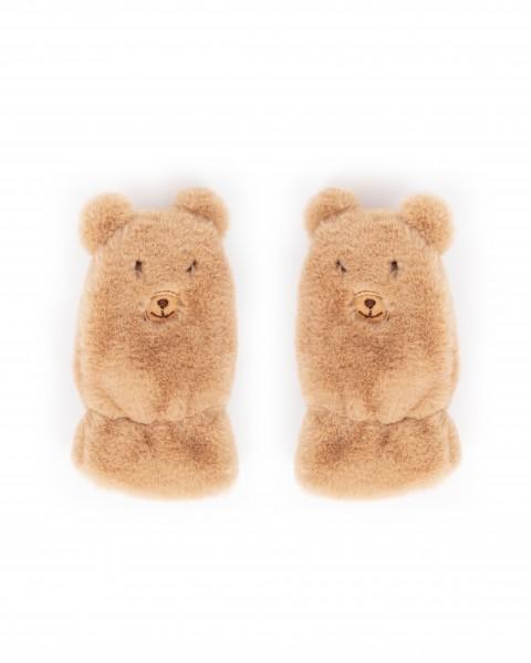 """Powder Kinder Fäustlinge """"Teddy"""" (Braun)"""