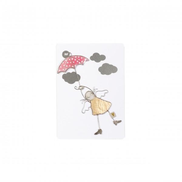 """Engel """"Regenschirm"""" - schwebend von Good old friends."""