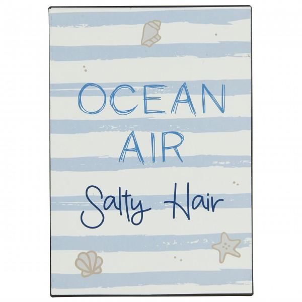 "Ib Laursen Metallschild ""Ocean Air Salty Hair"""