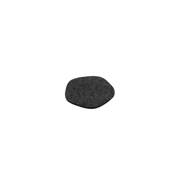 """Filz-Untersetzer """"Pebble"""" - 12 cm (Dunkelgrau/Graphit) von HEY-SIGN"""