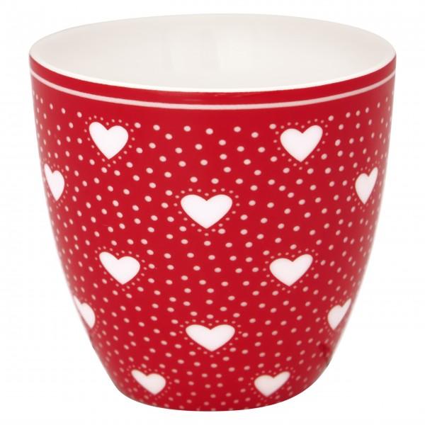 Niedlicher kleiner Latte Cup aus der neuen GreenGate Kollektion Penny Red