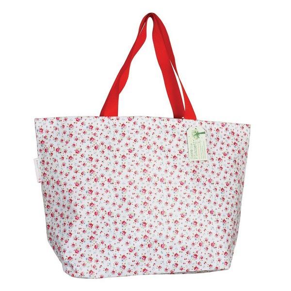 Große Einkaufstasche mit hübschem Rosenprint