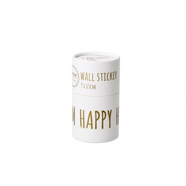 "Rice Wandsticker ""I am Happy Here"" (Gold)"