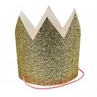 Glitzerne Mini-Kronen von Meri Meri (gold)